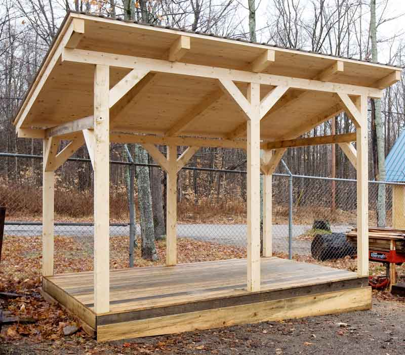 Wood Shed Plans and Instructions - Storage Shed Plans