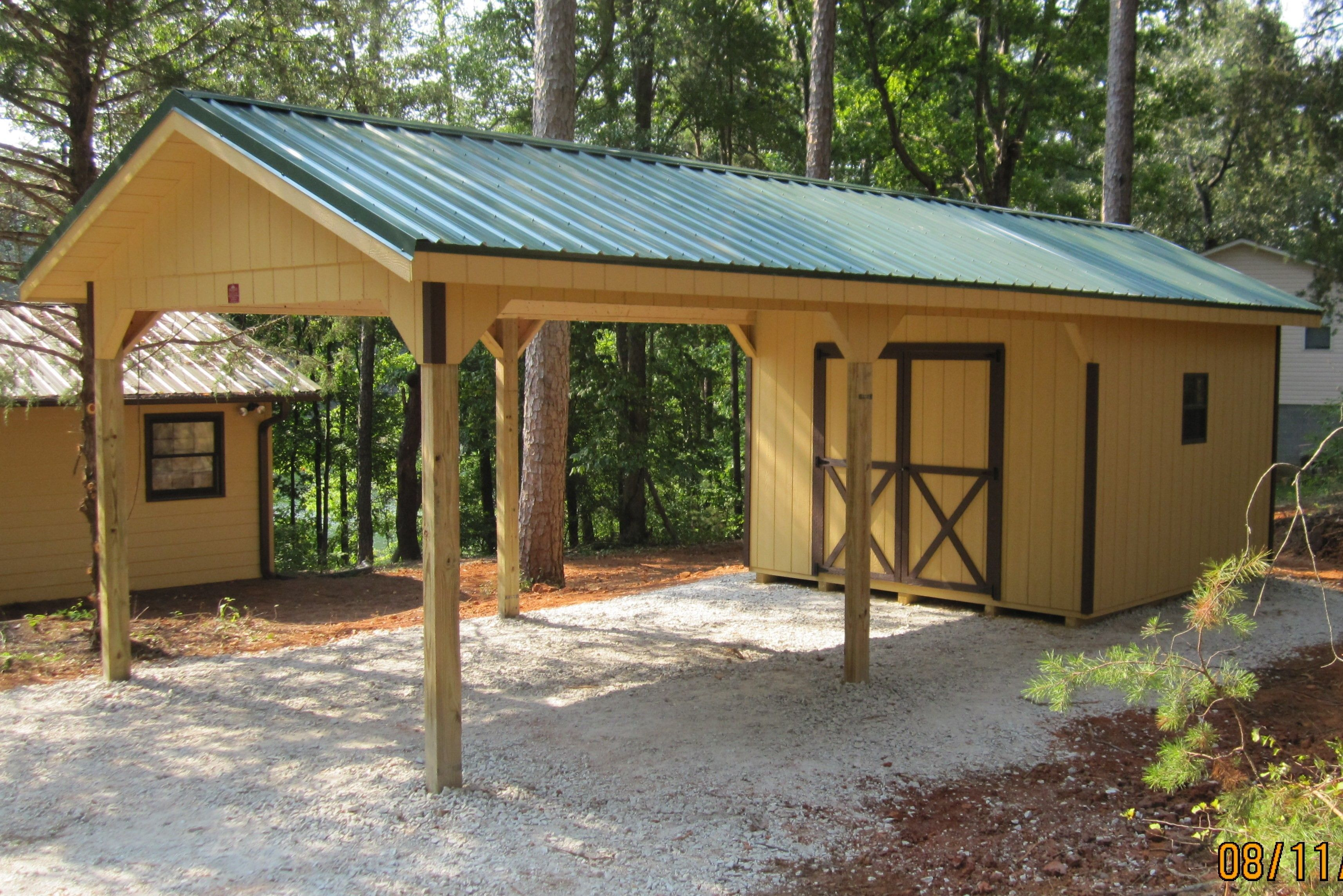 Carport Shed Plans Storage Shed Plans