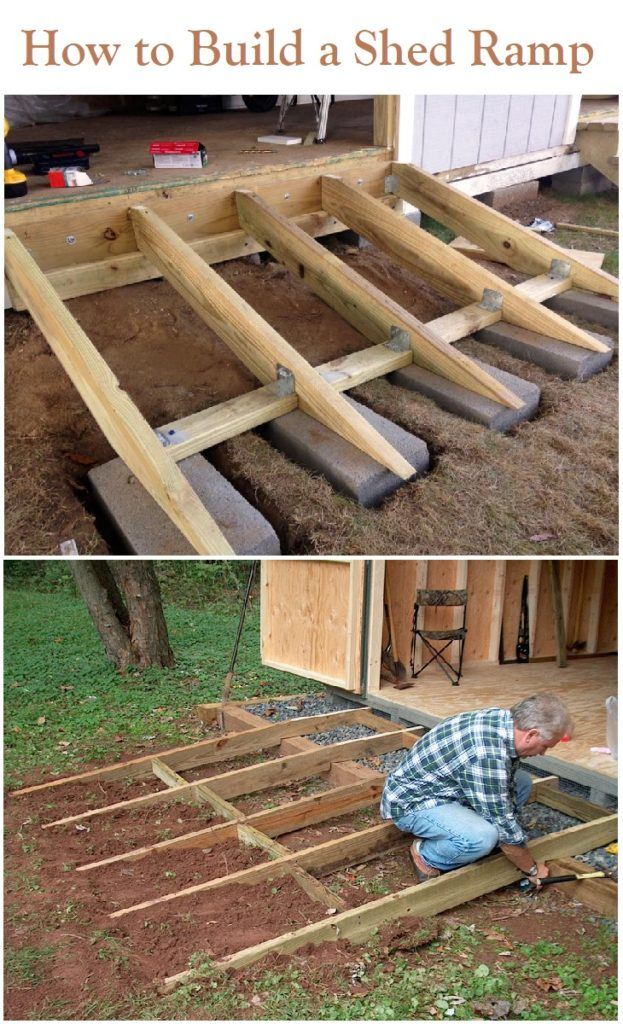 How To Build A Shed Ramp The Right Way Storage Shed Plans