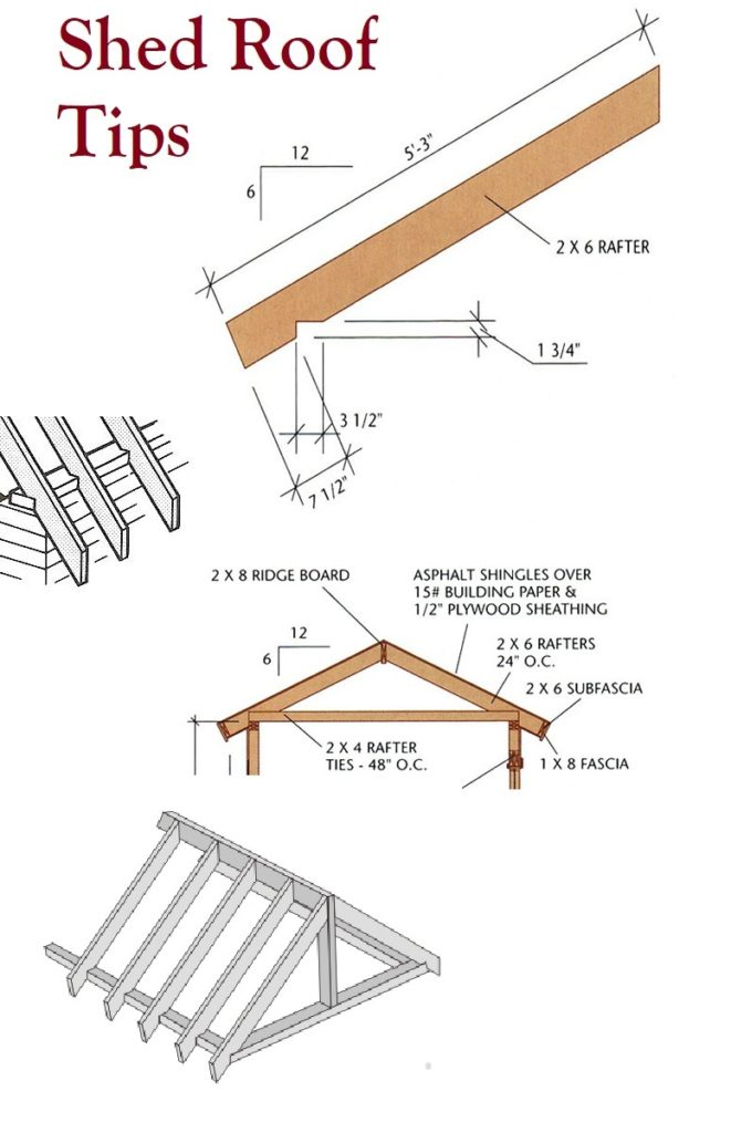 Shed Roof Tips Storage Plans